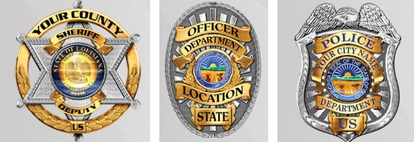Police Badge Decals