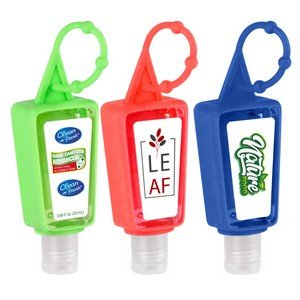 1 OZ Hand Sanitizer Gel With Adjustable Silicone Holder Case